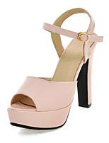 Women's Shoes Heel Heels / Peep Toe / Platform Sandals / Heels Party & Evening / Dress / Casual Pink / Beige
