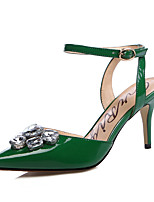 Women's Shoes Patent Leather Stiletto Heel Heels / Slingback / D'Orsay & Two-Piece / Pointed Toe Sandals / Heels Party &