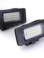 2PCS VW Au-di A3 A4 A6 LED License Plate Lamp 12V 14W LED with Special LED Decorder