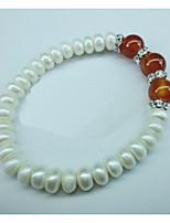 Women's Strand Bracelet Pearl / Agate Onyx / Pearl / Rhinestone