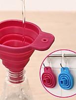 pliables outils de cuisine entonnoir de style trémie de cuisine pliables en gel de silicone (couleur aléatoire)