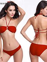 Bikini / Due Pezzi-Nuoto / Immersioni / Surf-Per donna-Traspirante / Asciugatura rapida / Compressione / Materiali leggeri / Liscio-Verde