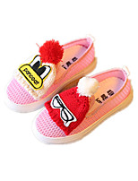 Girls' Shoes Dress / Casual Comfort Tulle Loafers Black / Pink / White