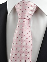 New Red Pink Flora Checked Classic Men's Tie Necktie Wedding Holiday Gift KT0071