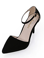 Women's Shoes Stiletto Heel Pointed Toe Heels Office & Career / Dress / Casual Black / Red / Gray