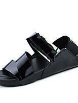 Zapatos de Hombre-Chanclas / Sandalias-Casual-Semicuero-Negro / Blanco / Plata / Oro