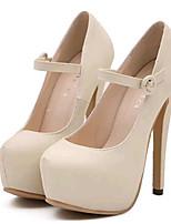 Chaussures Femme-Soirée & Evénement-Noir / Amande-Talon Aiguille-Talons-Talons-Similicuir