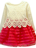 Girl's Dress,Cotton Spring / Fall Red / White