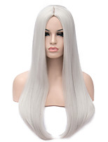 Blonde Sliver Two Colors Synthetic Women Wig Straight Heat Resistant Hair Synthetic Wigs