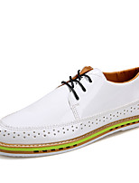Men's Shoes Wedding / Party & Evening / Casual Leather /Oxfords Black / White / Gray