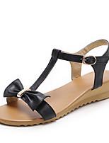 Women's Shoes Wedge Heel Slingback / Open Toe Sandals Dress / Casual Black / White