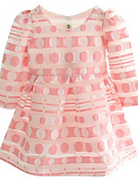 Girl's Pink Dress,Dot Cotton Summer / Spring