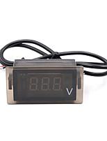 12-24VCC motocicleta llevó pantalla del panel del voltímetro digital de voltaje
