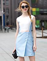Zishangbaili® Women's Round Neck Sleeveless Knee-length Dress-XZ52048