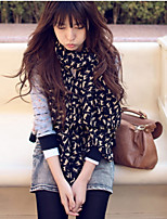 Korean Version Of The Fall And Winter Long Chiffon Scarves Cat Printed Scarf Shaw
