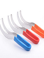 Stainless Steel  Watermelon Cutter Slicer Knife Corer Cutting Fruit Vegetable Tools Plastic Grip
