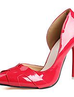 Calçados Femininos-Saltos-Saltos-Salto Agulha-Vermelho / Branco / Cinza / Laranja-PU-Casual