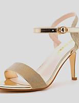 Chaussures Femme-Mariage / Bureau & Travail / Habillé / Décontracté / Soirée & Evénement-Argent / Or-Talon Aiguille-Bout Ouvert-Sandales-