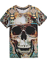 3D Pattern  Male As Picture Cosplay The skull T-shirt