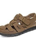 Zapatos de Hombre-Sandalias-Exterior / Casual / Deporte-Cuero de Napa-Gris Topo
