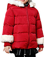 Girl's Down & Cotton Padded,Cotton Winter Red