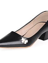 Chaussures Femme-Bureau & Travail / Habillé / Décontracté / Soirée & Evénement-Noir / Rose / Blanc-Gros Talon-Talons-Talons-Similicuir