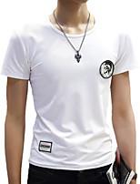 Herren Freizeit / Sport T-Shirt - Patchwork Kurz Baumwolle / Polyester