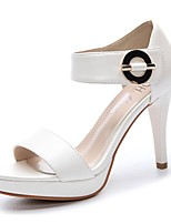Women's Shoes Synthetic Stiletto Heel Peep Toe Sandals Wedding/Office & Career/Party & Evening/Dress/Casual White