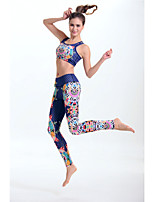 Women's Fashion Bohemia Pattern High Elasticity Yoga Clothing Sets/Suits