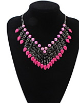 Colorful Beads Statement Necklace Women Rhinestone Necklace Pendants Summer Style Jewelry For Gift Party