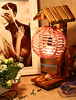 Creative Wood The House with Pen Container Decoration Desk Lamp Bedroom Lamp Gift for Kid(Random Color)