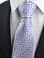 New Purple Arrow Pattern Novelty Men's Tie Necktie Wedding Holiday Gift KT0065