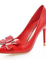 Calçados Femininos-Saltos-Saltos-Salto Agulha-Preto / Vermelho / Branco / Amêndoa-Courino-Casamento / Escritório & Trabalho / Festas &