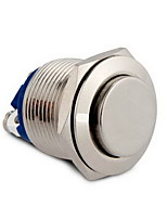 19mm 12V Momentary On/Off Push Buttons Switch for Car Boat Silver