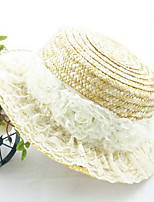 Women Lace / Straw Flowers Fedora Hat,Cute / Party / Casual Spring / Summer / Fall