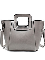 Women-Formal / Casual / Office & Career / Shopping-PU-Tote-Pink / Gray / Black