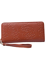 Women Cowhide Baguette Clutch / Coin Purse-Pink / Blue / Brown / Red / Black