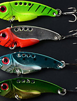 5.5cm 11g/pcs Fishing Lures Vibration Metal 3D Eyes Bionic Bait Lures 4 Colors 4 PC
