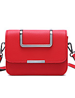 Women PU Sling Bag Shoulder Bag-Red / Gray / Black