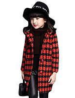 Veste & Manteau Fille de Hiver Coton Noir / Rouge