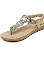 Women's Shoes Glisten Flipflop Slip On Flat Heel Comfort / Open Toe Sandals Dress / Casual Silver / Gold