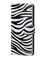 Зебра шаблон магнитного пу кожаный бумажник флип стенд чехол для Asus zenfone макс zc550kl