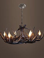 vintage Antler chandelier lighting Industrial Fixture Country 6-Lights Fit for Living Room Dining room Easy Installation