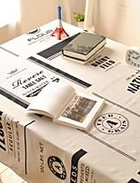 mots motif nappe mode hotsale de haute qualité draps en coton table basse carrée couverture en tissu éponge