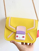 Women PU Sling Bag Shoulder Bag-Pink / Yellow / Red / Black