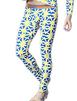 men long johns men's bodysuit pants mens  blue print  tight leggings pants N500116