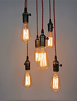 6 Heads Retro Pendant Lights , DIY Art Living Room Dining Room/Study Room/Office/Entry/Hallway light Fixture
