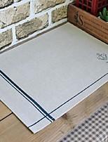 6pcs napperons pack de tissu de coton modèle de mode lavable 27,5