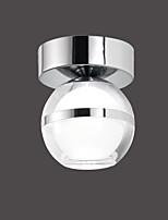 5W Montagem do Fluxo ,  Contemprâneo Cromado Característica for LED MetalSala de Estar / Quarto / Sala de Jantar / Quarto de