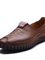 Men's Shoes Office & Career / Casual Nappa Leather Oxfords Brown / Khaki